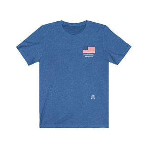 Aggressively Patriotic American Flag Premium Heathered T-Shirts