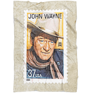 Vintage John Wayne Stamp Ultra Soft Micro Fleece Blanket