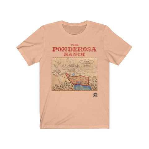 Image of The Ponderosa Ranch from Bonanza Premium Jersey T-Shirt