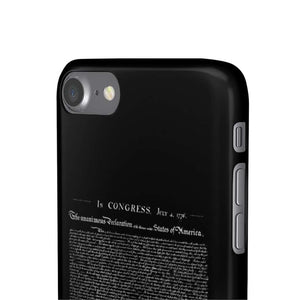 Declaration of Independence Snap Phone Case