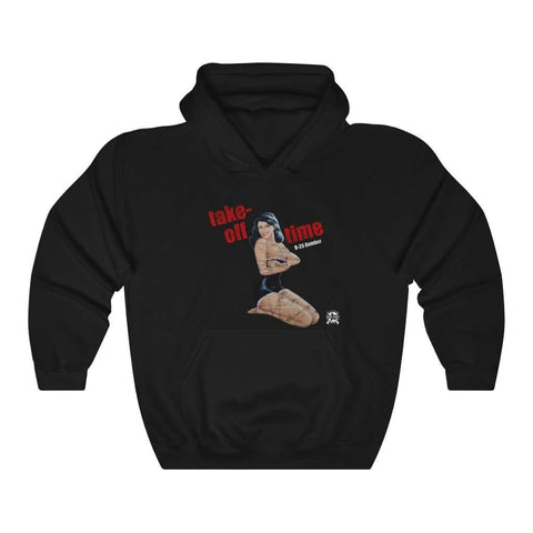Image of Take-Off Time - Retro WWII Airplane Nose Art Hoodie