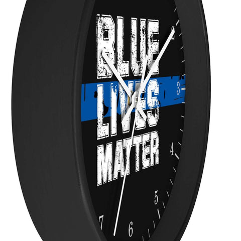 Image of Blue Lives Matter Wooden Wall clock