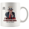 "Trump ""I Want You To Wash Your Hands"" Vintage Style Coffee Mug"