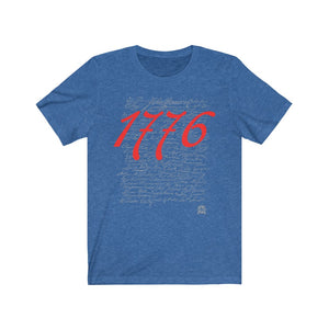 1776 Signers of the Declaration of Independence Signatures Premium Jersey T-Shirt
