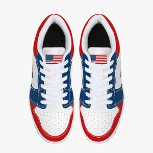 The American Patriotic USA Flag Leather Sneakers