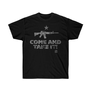 Come And Take It Distressed Style AR-15 T-Shirt