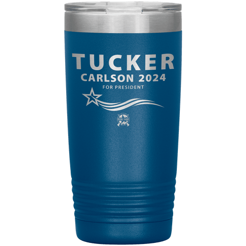 Image of Tucker Carlson for President 2024 Stainless Etched Premium Tumbler