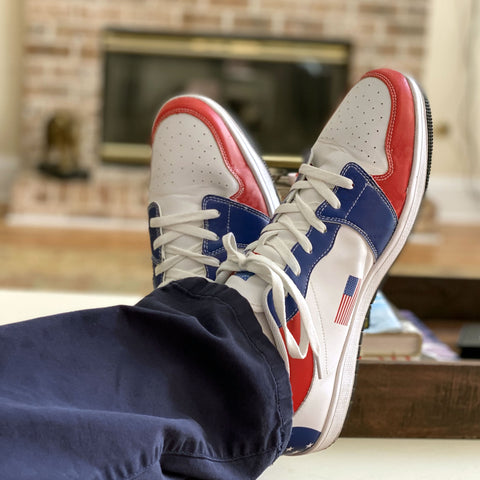 "Image of The ""Americana"" Premium Leather Sneakers - Bring Ammo Exclusive Collection!"