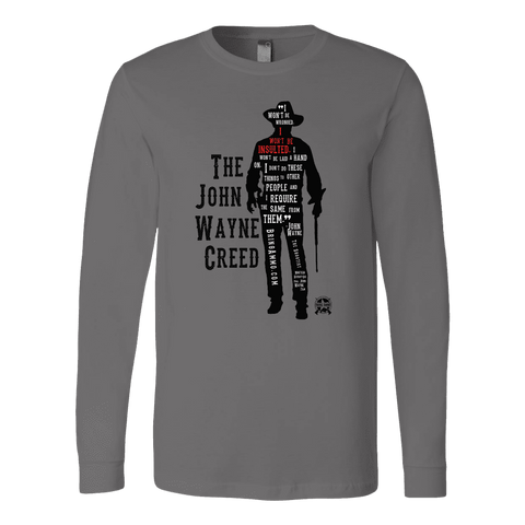 Image of The John Wayne Creed Premium Long Sleeve T-Shirt