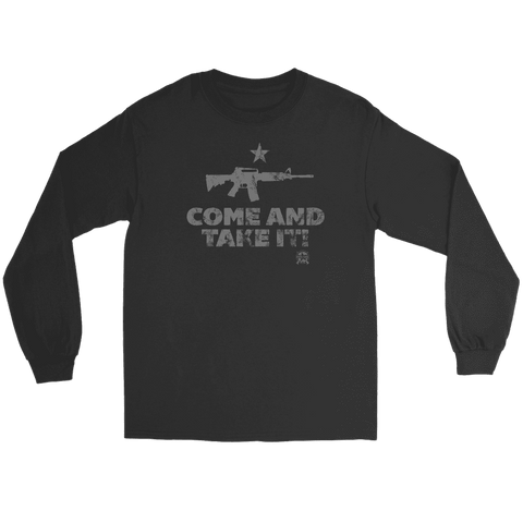 Image of Come And Take It Distressed Style AR-15 Long Sleeve T-Shirt