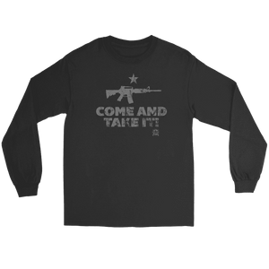 Come And Take It Distressed Style AR-15 Long Sleeve T-Shirt