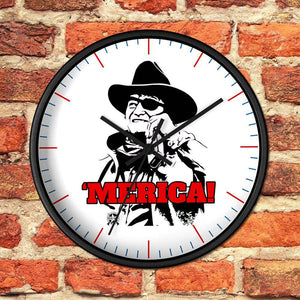 Merica John Wayne Drink - Whiskey Wall clock