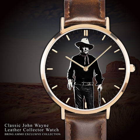 Image of Very Limited Edition: Classic John Wayne Leather Collector Watch
