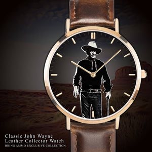 Very Limited Edition: Classic John Wayne Leather Collector Watch