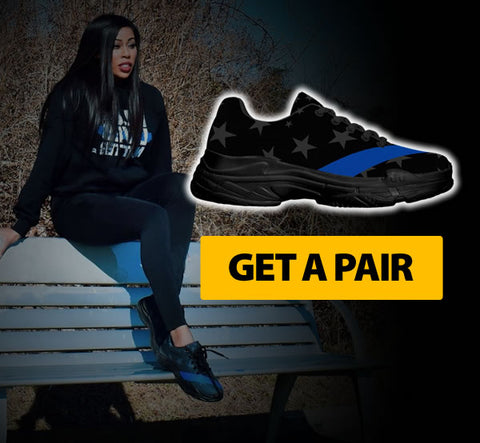 Image of Thin Blue Line Sneakers