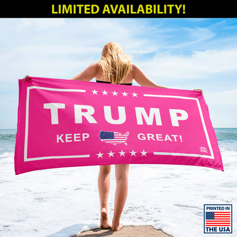 Image of Limited Edition: Women's Pink Trump Luxury Beach / Pool Towel