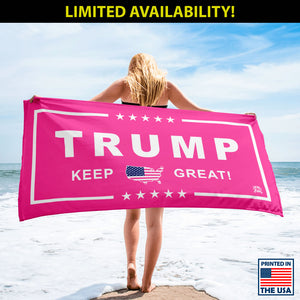 Limited Edition: Women's Pink Trump Luxury Beach / Pool Towel