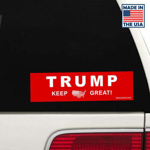 Fast Shipping! Classic Red Trump Bumper Stickers - Made in the USA!