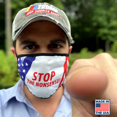 "Image of Fast Shipping! ""STOP The Nonsense"" Reusable Face Masks - Made In America!"
