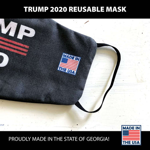 "Image of Fast Shipping! ""Trump 2020"" Reusable Face Covers - Made In America! Limited Stock!"