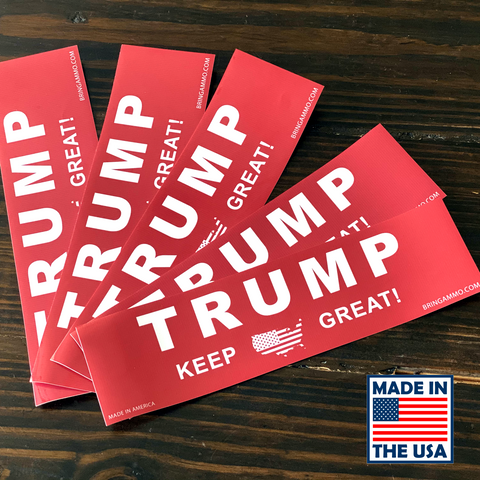 Image of Fast Shipping! Classic Red Trump Bumper Stickers - Made in the USA!