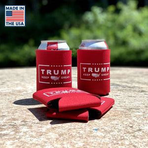 Trump Keep Great Foam Collapsible Coolies - Made In America!