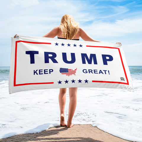 Image of Classic White Trump Beach / Pool Towel