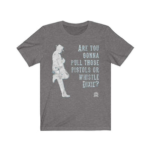 Are you gonna pull those pistols or whistle Dixie? Clint Eastwood Premium Jersey T-Shirt