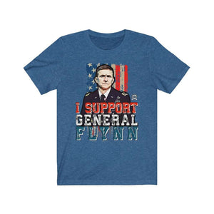 I Support General Flynn Premium Jersey T-Shirt - $5 per shirt goes to Flynn Defense Fund!
