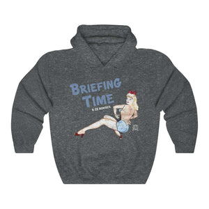 Briefing Time - Retro WWII Airplane Nose Art Hoodie