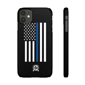 Thin Blue Line American Flag Snap Phone Case