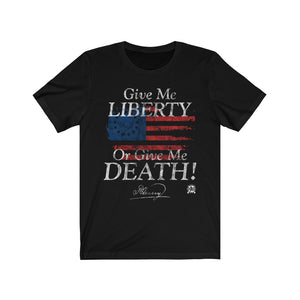 Give Me Liberty or Give Me Death Patrick Henry Signature Premium Jersey T-Shirt