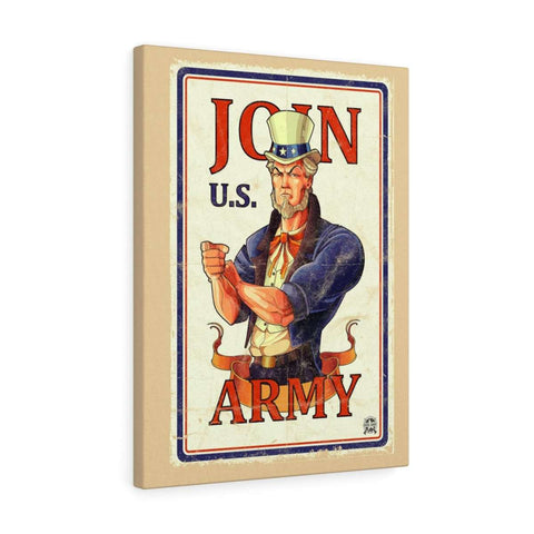 Image of Join U.S. Army Vintage Canvas Print