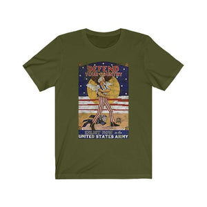 Defend Your Country Vintage WWII Premium Jersey T-Shirt