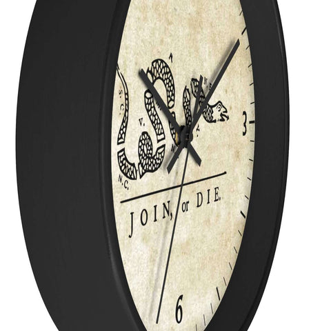 Image of Join or Die Wooden Wall clock