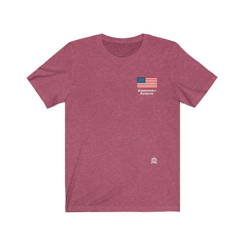 Image of Aggressively Patriotic American Flag Premium Heathered T-Shirts