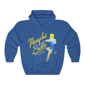 Memphis Belle -  Retro WWII B-17 Bomber Airplane Nose Art Hoodie