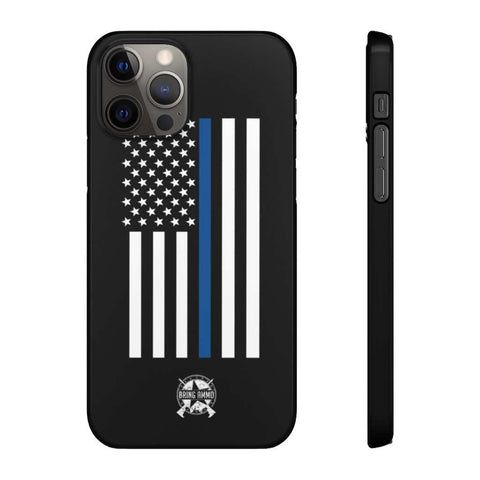 Image of Thin Blue Line American Flag Snap Phone Case