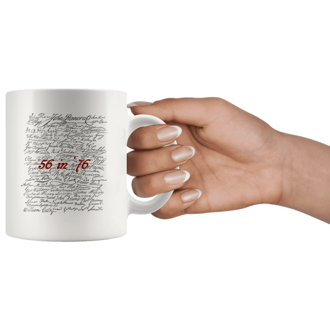 Image of 56 in '76 Signers of the Declaration of Independence Coffee Mug