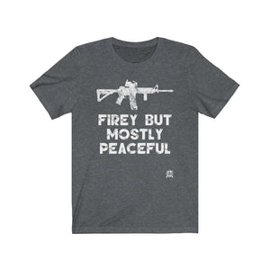 Firey But Mostly Peaceful Premium Jersey T-Shirt Hilarious 🤣