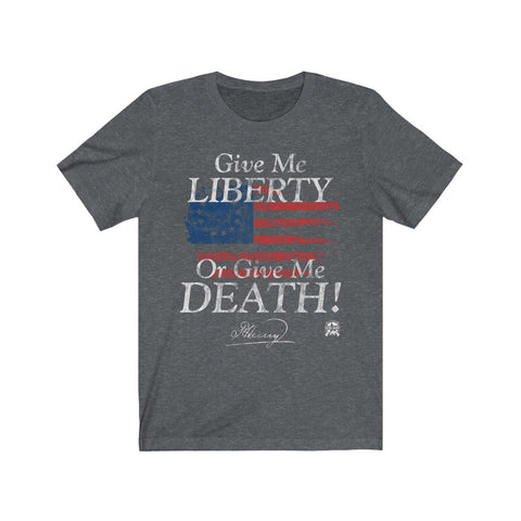 Image of Give Me Liberty or Give Me Death Patrick Henry Signature Premium Jersey T-Shirt