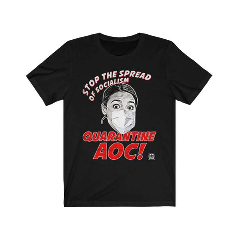 Image of Stop The Spread of Socialism - Quarantine AOC Parody Premium Jersey T-Shirt