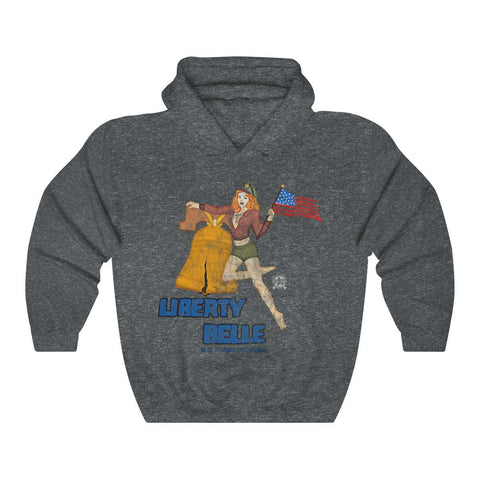 Image of Liberty Belle - Retro WWII b-17 Airplane Nose Art Hoodie