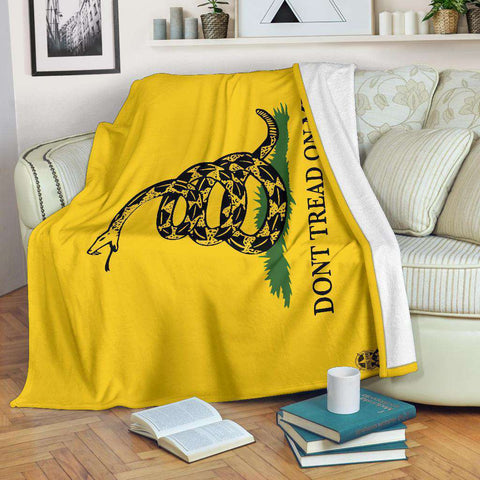 Image of Gadsden Flag Ultra Soft Premium Fleece Blanket