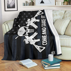 Come and Take It Ultra Soft Micro Fleece Premium Blanket