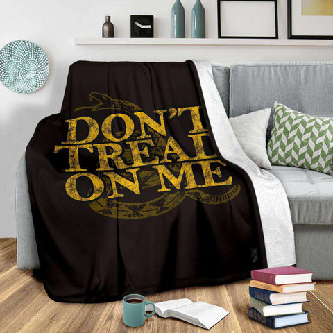 Image of Don't Tread on Me Ultra Soft Micro Fleece Blanket