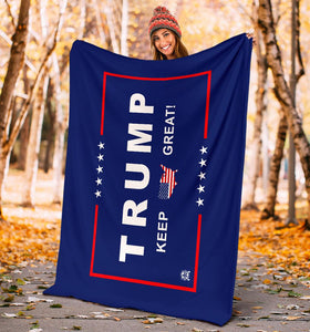Trump Keep Great Ultra Soft Premium Micro Fleece Blanket