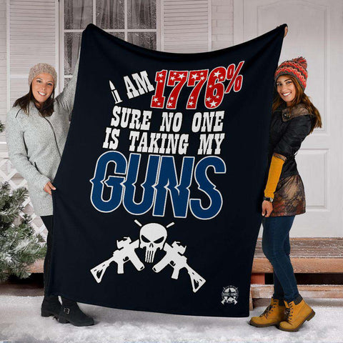Image of 1776% Sure No One Is Taking My Guns Ultra Soft Micro Fleece Blanket v2