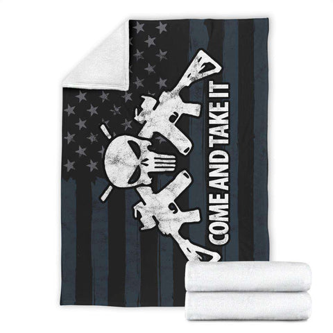 Image of Come and Take It Ultra Soft Micro Fleece Premium Blanket