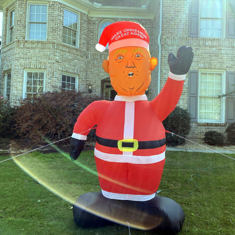 Image of 8 Foot Tall President Trump Santa -  Inflatable Make Christmas Great Again Trump Santa! 🎁 ALMOST SOLD OUT 🎁